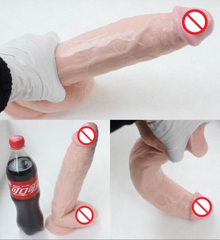 Huge bendable dildo