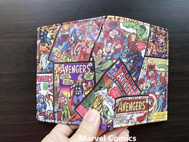 Marvel Avenger Student carteira curta anime Q Ver. Bolsa de estudante
