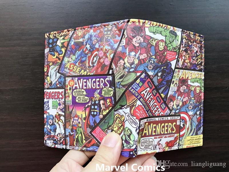 wallet Marvel Comics SuperHeroes Thor Hulk Deadpool X-Man Short wallets With Card Holder coin Purse for boys girl cool gift