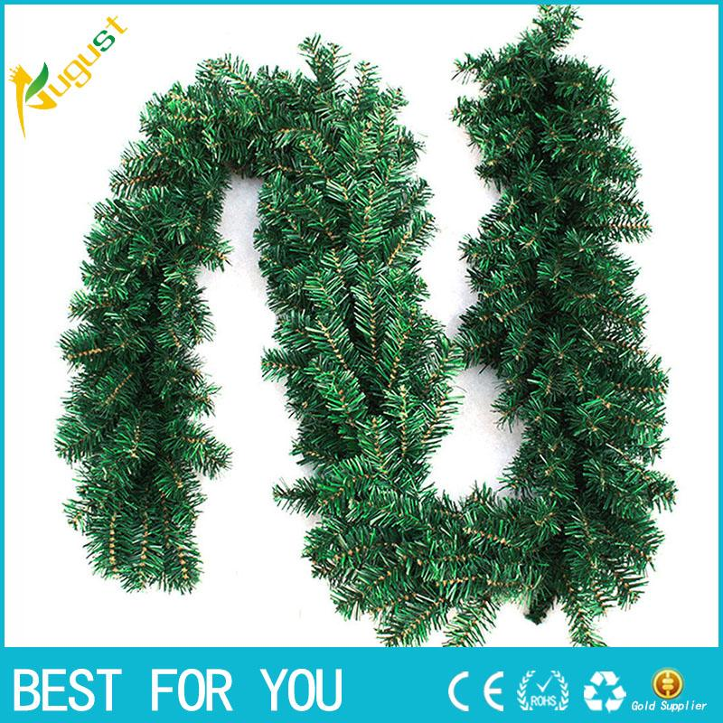 27m 9ft artificial green wreaths christmas garland fireplace wreath for xmas new year tree home party decoration party decor xmas tree ornaments christmas - Garland For Christmas Tree