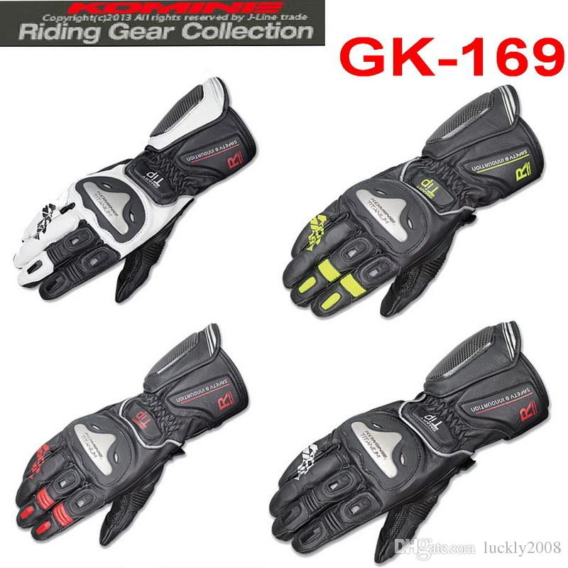 2015 new Style KOMINE GK-169 Titanium alloy leather motorcycle racing gloves and long sections Athletic glove 4 colors M L XL XXL
