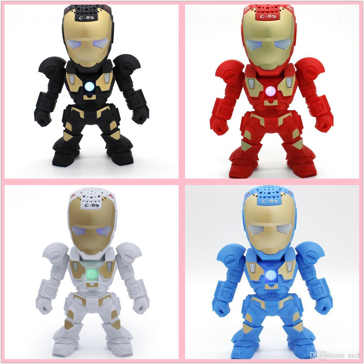 Best Robot Style C 89 Bluetooth Wireless Iron Man Speaker Support – Iron Man Birthday Card