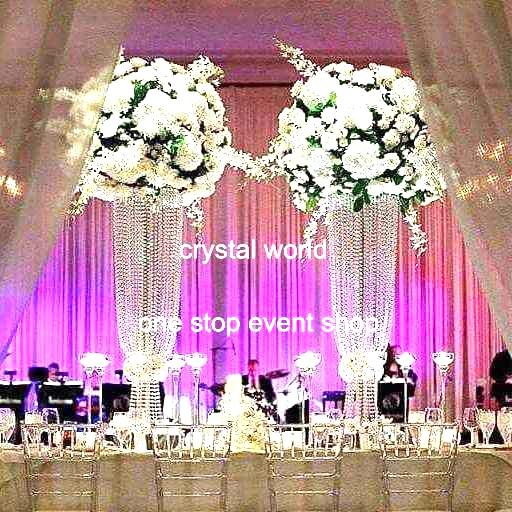 Elegant Tall Crystal Pillars Centerpieces 897 Wedding Decoration Table Centerpieces  Silver Wedding Centerpieces Wrought Iron Wedding Centerpieces Feather ...