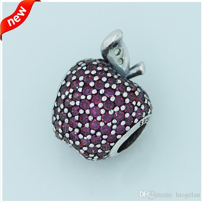 Fits Pandora bracelets Clips Daisy Fits Apple Pandora bracelets silver balls paved withnew silver beads 100% 925 sterling silver jewelry DIY