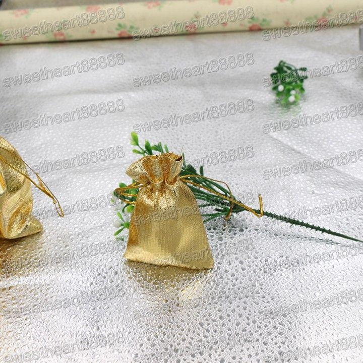 Новые 4Sizes Мода Позолоченные марлевые Атласные Ювелирные Изделия Сумки Ювелирные Изделия Рождественские Подарочные Пакеты Сумка 6x9cm 7x9cm 9x12cm 13x18см