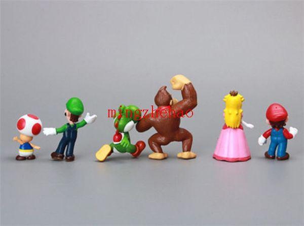 2016 new arrival, Gift Cute Super Mario Bros Shy Guy Yoshi Luigi 18 Figure Set COLLECTION