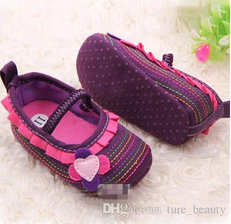 style available ! Cotton Cloth Four-Flower Baby Shoes Striped Sole Shoes for Kids Cute Toddler Shoes /Drop Shipping