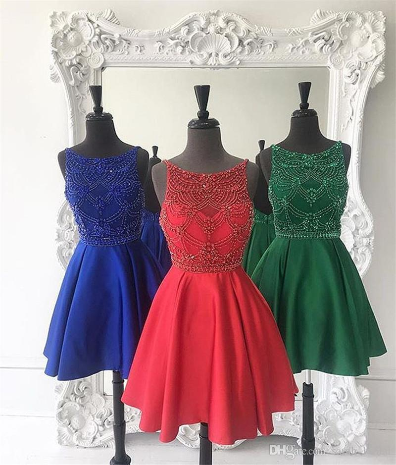 Luxury Red Short Plus Size Homecoming Party Dresses 2018 A Line