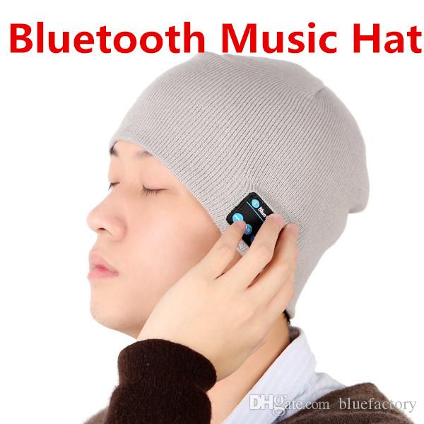 Bluetooth Music Soft Warm Hat With Stereo Headset Speaker Wireless Hands-free Cap for man support for iphone ipad Samsung Smartphone
