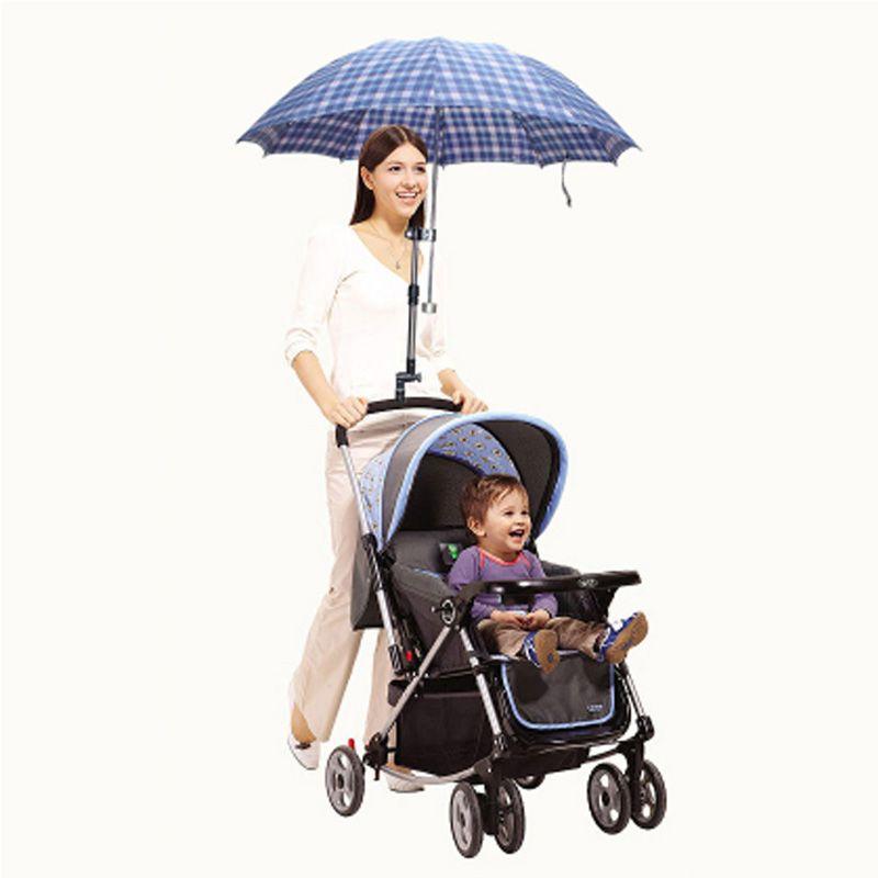 Plastic Handicraft Adjustable Baby Stroller Support Structure Baby Car Holder Plastic Stroller Pram Umbrella Bar Stretch Stand Holder Baby