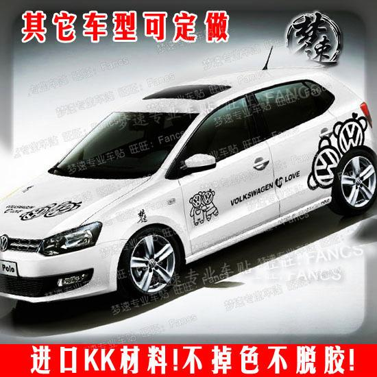 The new volkswagen polo car stickers garland automobile lovers bear the whole car stickers golf6 scirocco yi jie dalang custom car accessories custom car