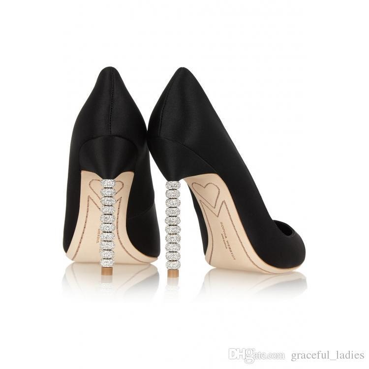 Элегантные шелковые синие свадебные туфли туфли на высоком каблуке невесты хрустальные каблуки слипоны свадебная обувь 7см / 10см туфли на высоких каблуках туфли со стразами свадебная обувь