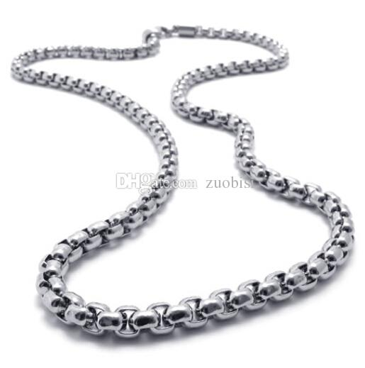 2017 5mm 22 Inch Boys Silver Twist Rope Chain Stainless