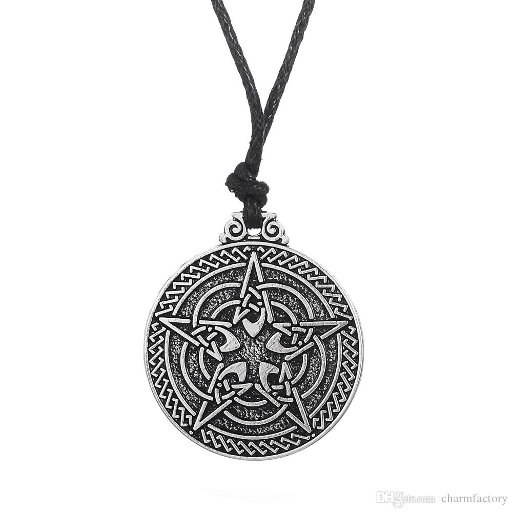 Factory Price Protective Wiccan Pentagram Necklace Jewelry Pagan Irish Pendant Necklace
