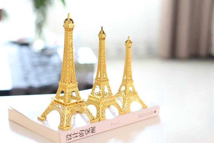 Romantic Gold Paris Eiffel Tower model Alloy Eiffel Tower Metal souvenir Wedding centerpieces table centerpiece many size to choose