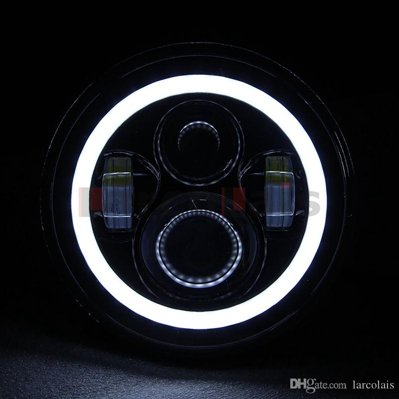 7inch Motorcycle Projector Daymaker HID LED Light Bulb Headlight With Angel Eye