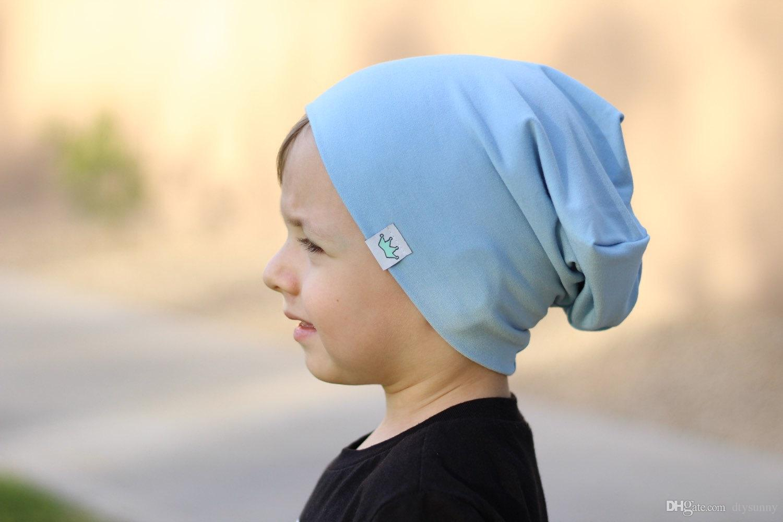 9fa6003e00ae 2019 Solid Baby Winter Hat Bonnet Enfant Kids Baby Boy Girl Infant Cotton  Soft Warm Hat Beanie Toca Infantil From Dtysunny