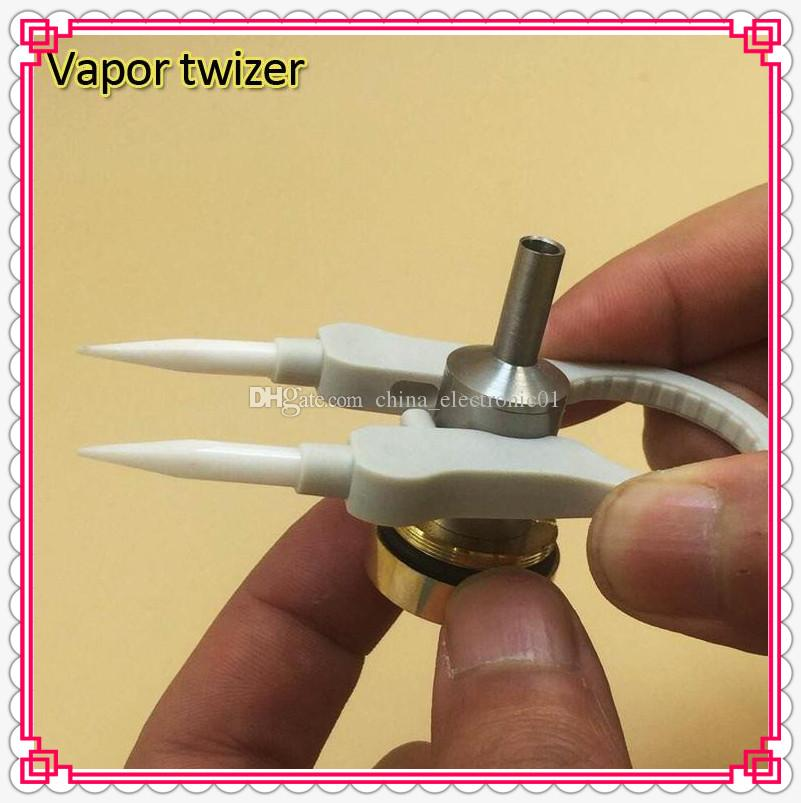 New Multifunction Tool Vaper Twizer Ceramic Tweezer Wrapping Coiler Adjustment Wire Spanner Tool Insulated fit RDA Atomizer DHL Free