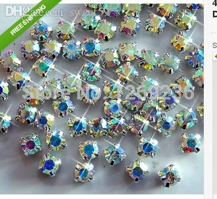 Wholesale-Loose Beads 5mm 5 Gross CLEAR AB SEW-ON GLASS DIAMANTE ... 7fed97b3dd9f
