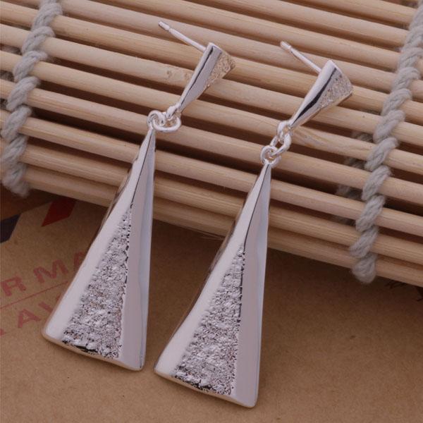 Мода изготовление ювелирных изделий 20 шт много вертикальные треугольные серьги стерлингового серебра 925 заводская цена мода обуви серьги