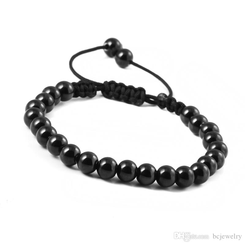BC New Anil Arjandas Macrame Bracelets,Gold Silver Black Micro Black Stoppers Beads Briading Macrame Bracelet For Men Jewelry BC-0220