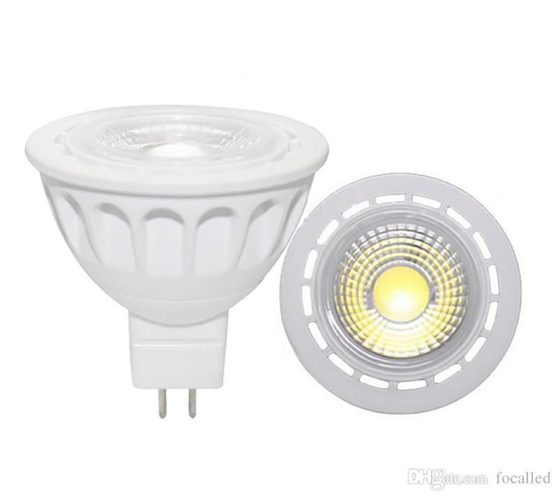 High Power CREE Led Spotlight Cob 5w 7w Gu10 Mr16 Dimmable Led Lamp Bulb Lights 600lm 60 beam angle warm cool white 12v 85-265v