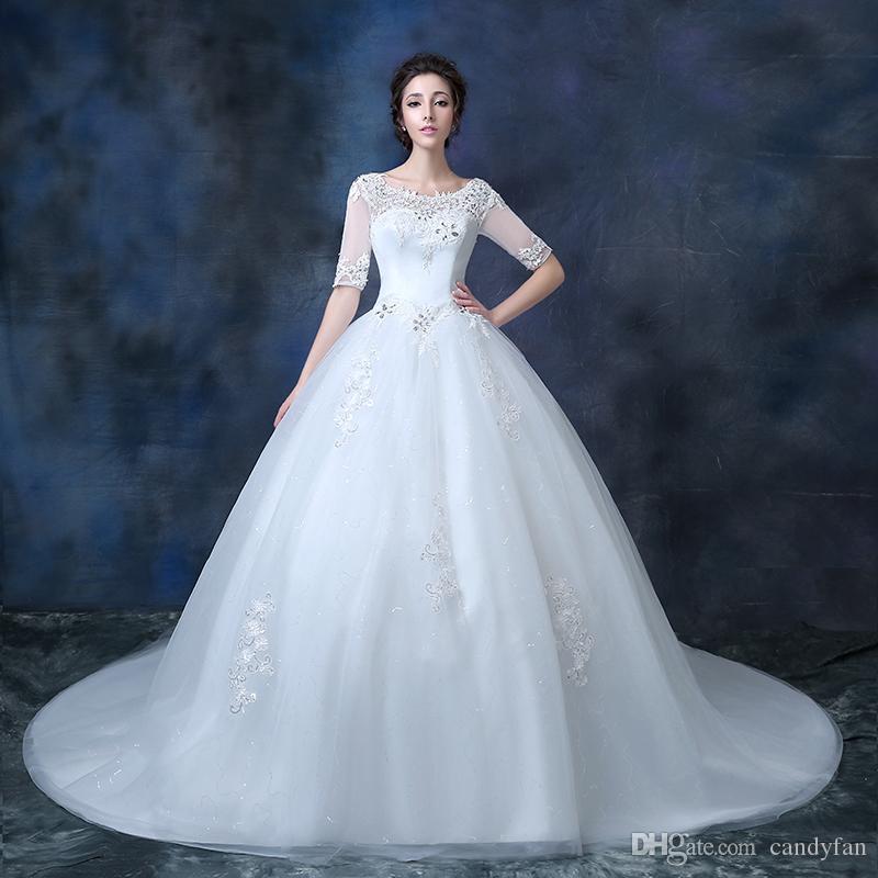 Hpt!high End Wedding Dress Spring Bride Wipes Bosom Wedding Gown Big ...