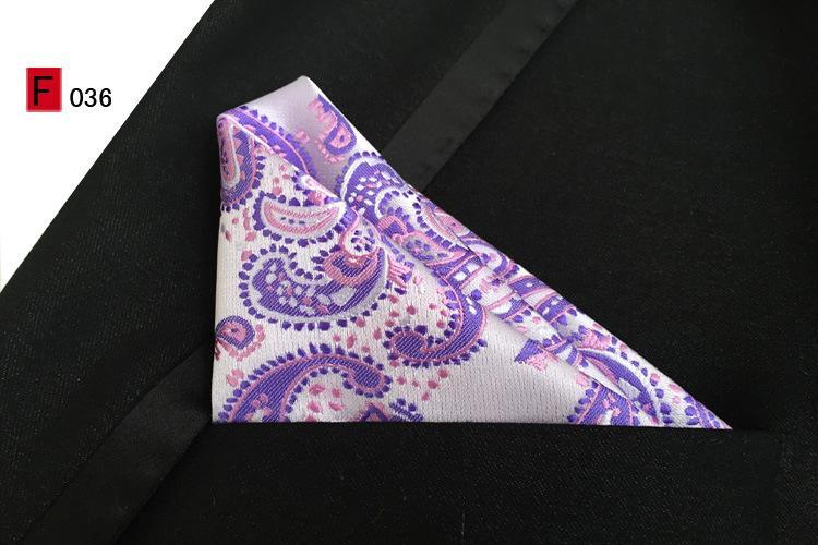 Hankerchief Bolso quadrado 25 * 25 cm 55 cor jacquard tecer Lenço dos guardanapos dos homens Para gravata Cocktail Party Wedding Party Natal