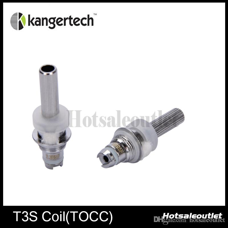 100% Original Kanger T3S Coil TOCC Coil head Japanese Organic Cotton Wick T3S TOCC Coil Head for Kanger T3S MT3S atomizer