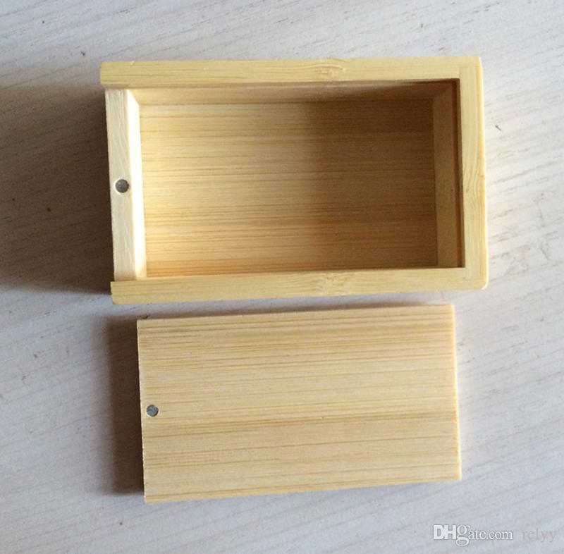 10 조각 없음 로고 대나무 포장 상자 대나무와 나무 선물 상자 나무 사각형 선물 상자 크기 80x50x25MM 3.15 x 1.97 x 0.99 인치