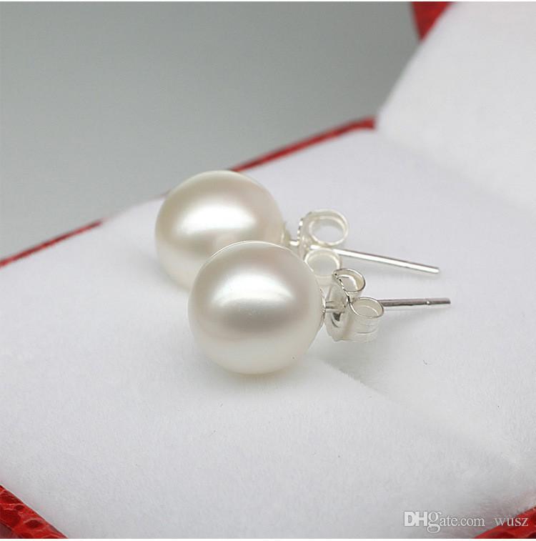 High quality 925 sterling silver jewelry Pearl Earrings South Sea shell pearl earrings female fine jewelry