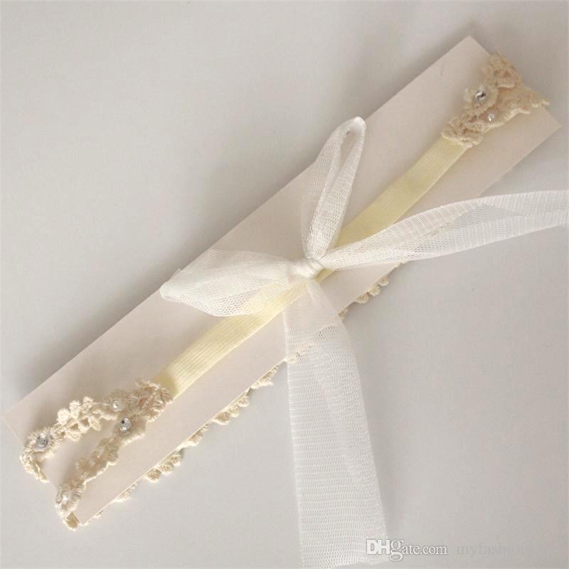 Großhandels/ koreanische Art-Baby-Spitze-Stirnband Princess Kleinkinder Hair Bequeme nette weiße Haarbänder für Babys