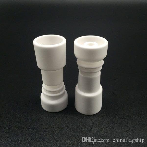 La vendita calda 10MM 14MM 19MM Domeless Femmina Ceramica unghie Universal Joint vetro dimensioni accessori fumatori più economico di chiodo di titanio