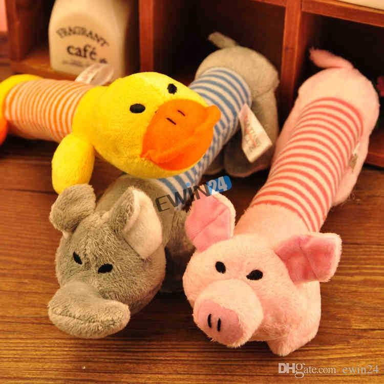 Brand New Puppy Chew Squeaker Squeaky Plush Sound Pig Elephant Duck For Dog Sound Toys