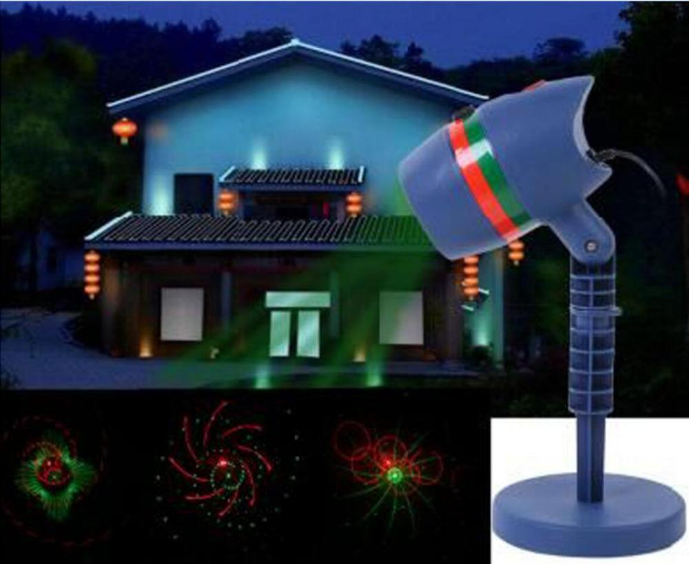 wholesale outdoor christmas laser light projectors waterproof star red and green led spotlights for garden house landscape laser dj lights disco lighting