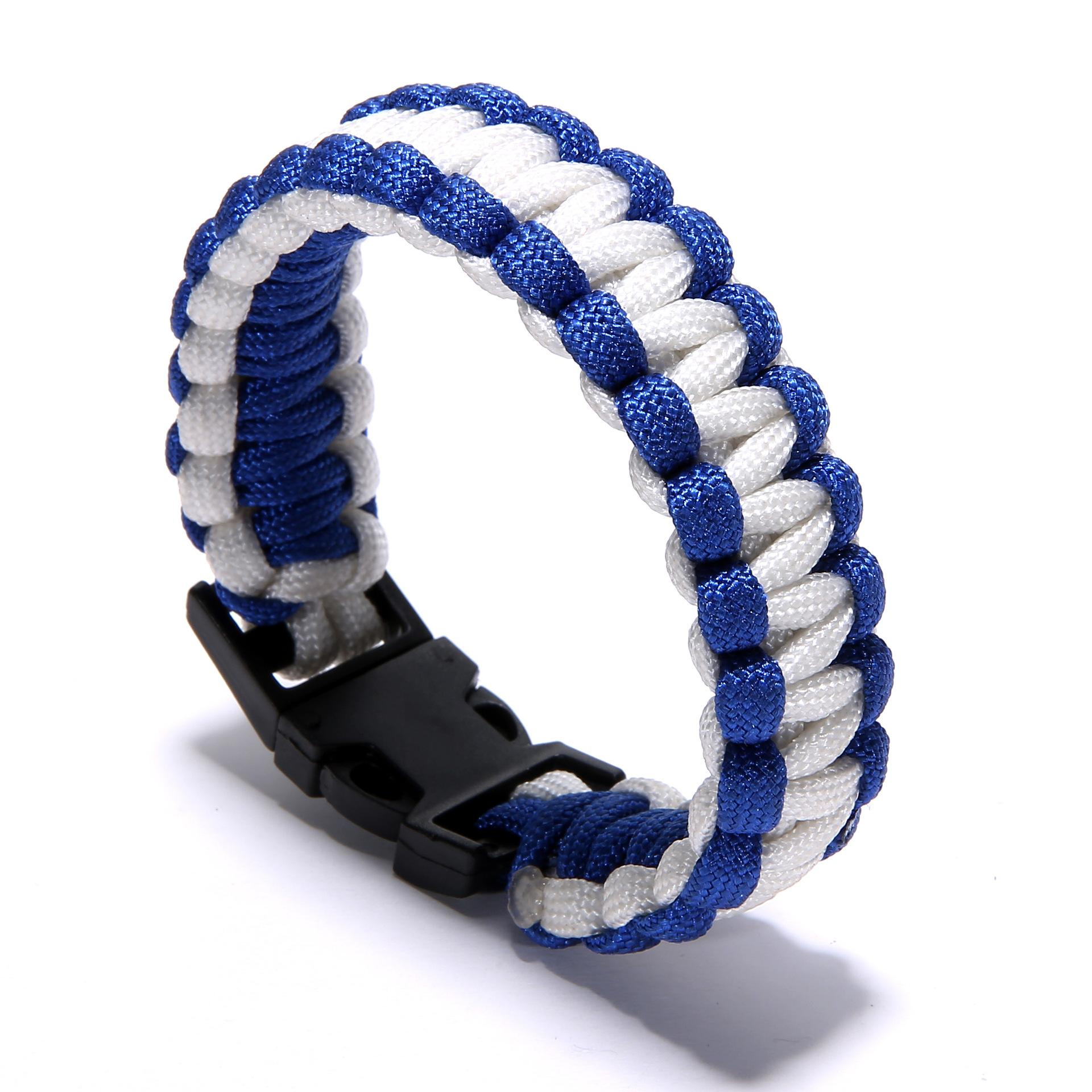 Factory Price Survival Self-rescue Parachute Cord Paracord Bracelet Outdoor  Camping Emergency Survival Escape Rope Buckle Travel Kit Tools