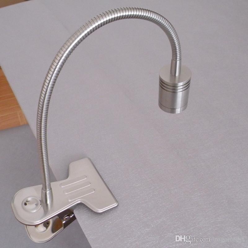 TOPOCH Metal Made Clip op tafellampen Bureaulamp Boek Licht voor Lezen / Werken 3W CREE LED 200LM AC100-240V US Plug In Cords