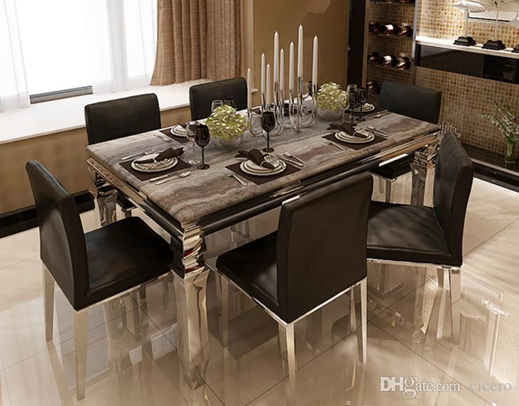 2019 Marble Dining Table Set Dining Room Furniture Yayoom One Stop Solution  From Cicero, $992.97 | DHgate.Com