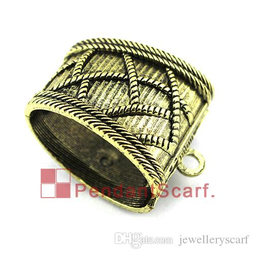 Antique Bronze Spring Opening And Closing System Pendant Scarf Slide Bails Tube DIY Necklace Jewelry Scarf Pendant, AC0322B