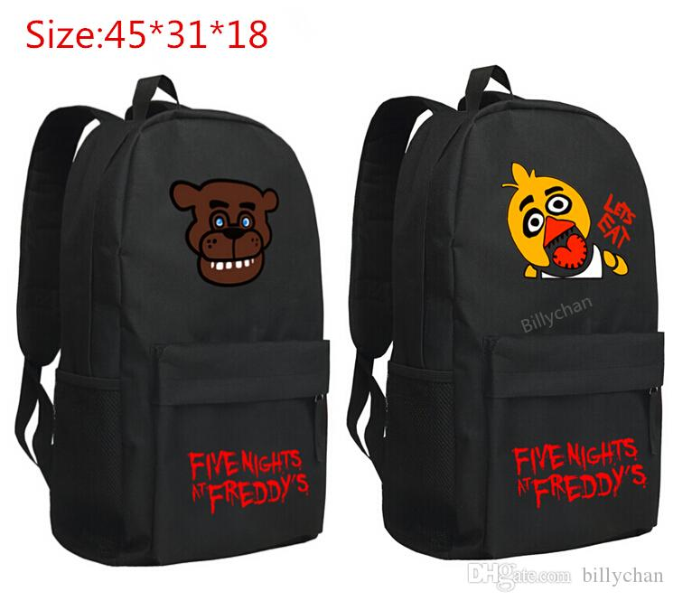 five nights at freddy s backpack schoolbag chica bear figure toy