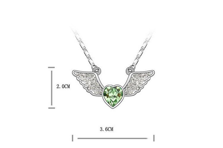 Winkel-Herz-Halsketten-Ohrring-Sätze 18k Weiß überzogene Art- und Weiseschmucksachen für LIEBE Legierungs-Schmucksache-Sätze SET-00035