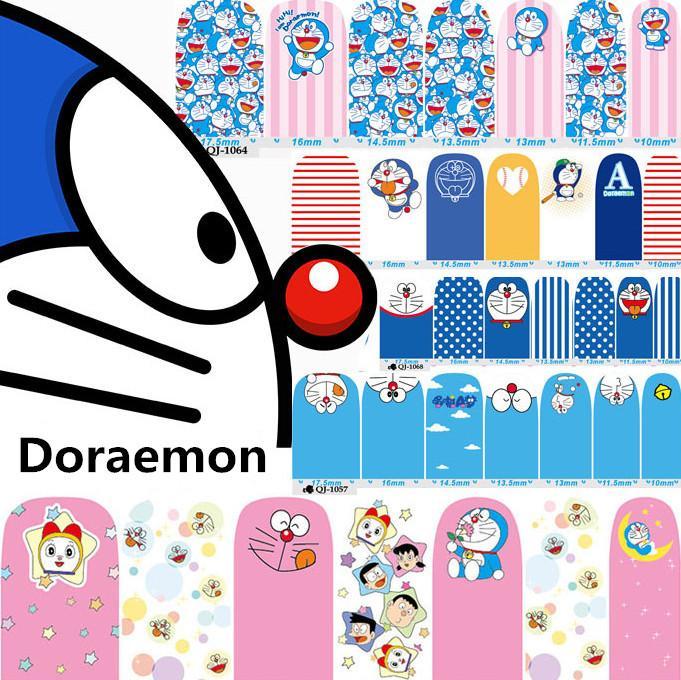 1sheet 2016 Doraemon Nail Stickers Cute Cartoon Environmental Nail