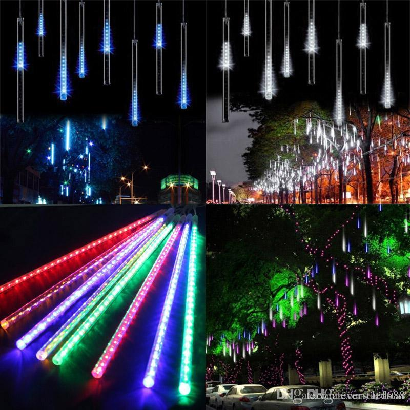 50cm meteor shower rain tubes led mini meteor lights led strings light led light christmas light wedding garden decoration globe lights string clear globe