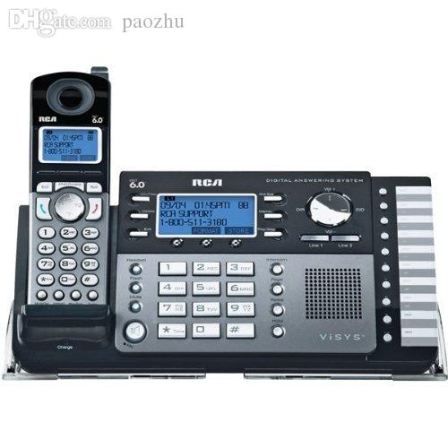 Wholesale-RCA 25250RE1 2-Line DECT 6 0 Cordless Expandable Phone With  Digital Answering System Office Home Telephone