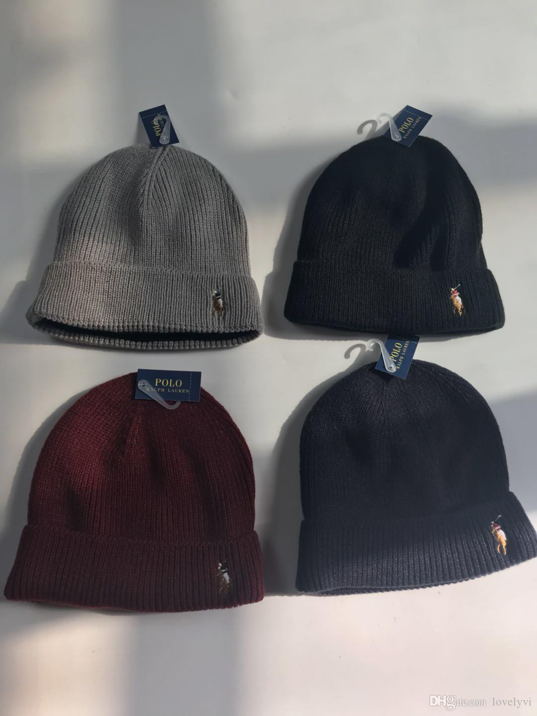 2018 Newest Polo Winter Ski Hat Wool Hat Men And Women Thickening Warm Ear  Protection Cap Knitted Head Hat Caps Dhl Canada 2019 From Lovelyvi ba435058b445