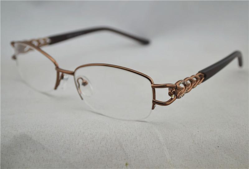 07907e0501b 2019 Women Optical Half Glasses Frame Metal Brand Men S Eye Glasses Lenses  Computer Myopia Glasses Frame Silver Gold Brown From Nbkingstar
