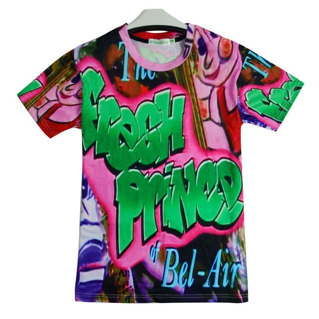 74592efdaf86b5 Großhandel Herren T Shirts Mode Frische Prinz Von Bel Air Will Smith 3D  Druck Mann T Shirts Homme Druck Swag Klassische Lila Punk Tops Tees Von ...