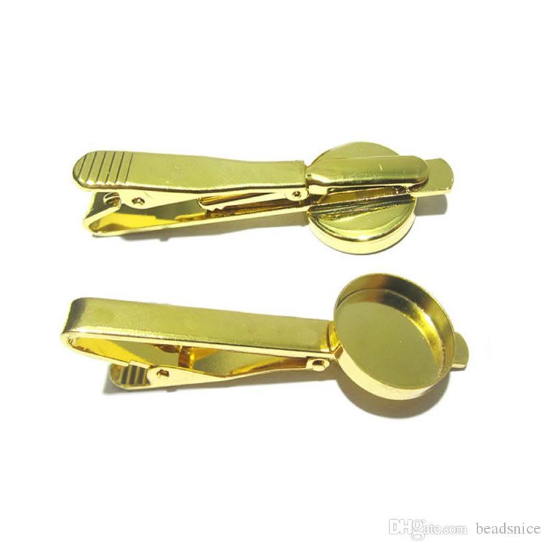 Beadsnice зажим для галстука безель галстук аксессуары с 16 мм круглый кабошон установка зажим для галстука пустой ювелирные изделия делая поставки ID 23034