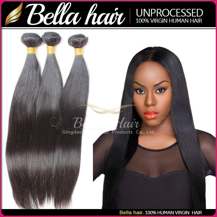Bellahair® Buy 2 1 무료 9A 브라질 버진 인간의 머리카락 짜다 고품질 10 ~ 24inch 실키 스트레이트