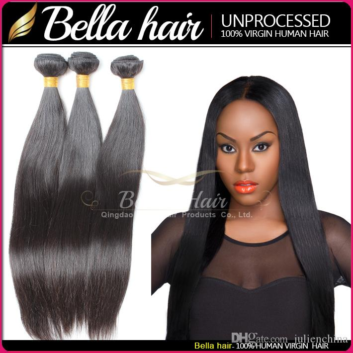 Bellahair® Kup 2 Get 1 Free 9a Brazylijski Dziewiczy Human Włosy Splot Wysokiej Jakości 10 ~ 24 cali Silky Prosto